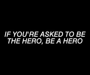 hero, quote, and the walking dead image