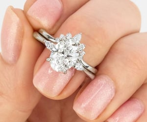 engagement ring and diamond image