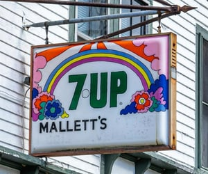 7up, flowerpower, and groovy image