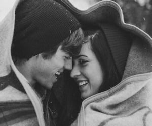 black and white, girl, and together forever image
