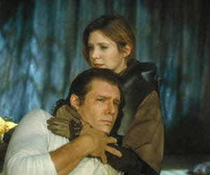 carrie fisher, harrison ford, and roj image