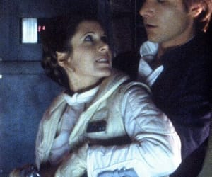 carrie fisher, harrison ford, and han solo image