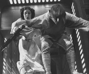 carrie fisher, luke skywalker, and Princess Leia image