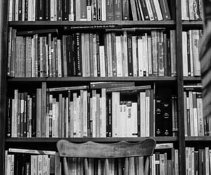 black and white, picture, and books image