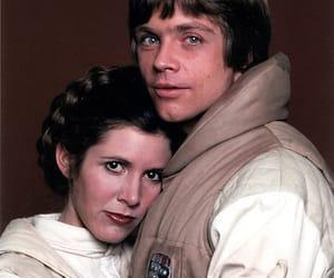 carrie fisher, luke skywalker, and Princess Leia image