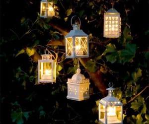 lantern, lights, and tree image