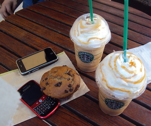 starbucks, blackberry, and iphone image