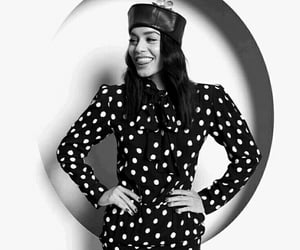 black and white, celebrity, and polka dot image