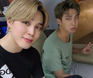 namjoon, bts, and jimin image
