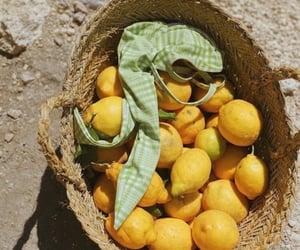 lemon, fruit, and summer image