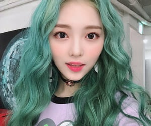 gg, green hair, and Sunday image