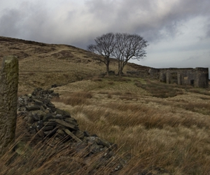 top withens, moors, and wuthering heights image