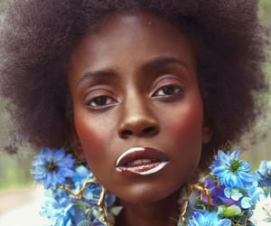 Afro, woman, and black image