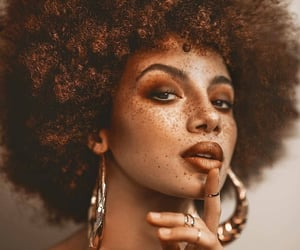 aesthetic, freckles, and Afro image