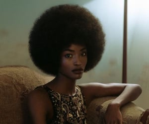Afro, woman, and aesthetic image