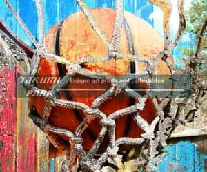 etsy, basketball artwork, and basketball wall art image