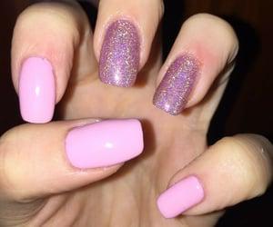 glitter, nail, and ricostruzione image