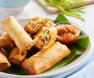 foodie, spring rolls, and thailand image