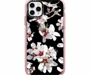 black, cherry blossom, and girly image
