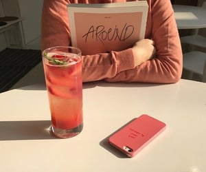 peach, aesthetic, and drink image