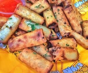 food, foodie, and spring rolls image