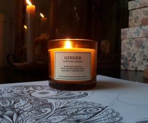 autumn, candles, and ginger image