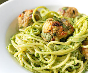 food, meatballs, and delicious image
