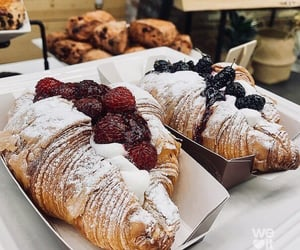 croissant, food, and fruit image