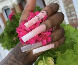 acrylic, girls, and long nails image