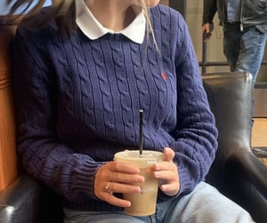 iced coffee, outfits, and aesthetic image
