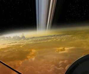 space is the place, thank you nasa, and cassini's last image image
