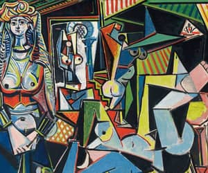 Pablo Picasso, sun in scorpio water, and women of algiers image