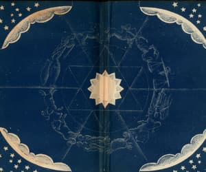 art, endpapers of a book, and the pageant of the stars image