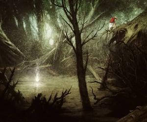 lake, fairy tale, and illustration image