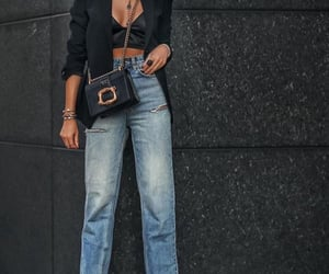 denim, trendy, and crop top image