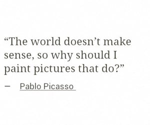 quotes, art, and picasso image
