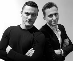 tom hiddleston and luke evans image