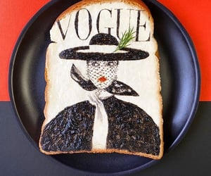 aesthetic, art, and toast image