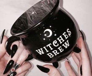 black and white, cup, and Halloween image