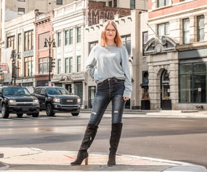 downtown, fall fashion, and city style image
