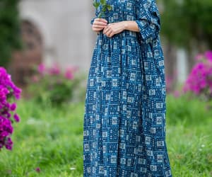 etsy, vintage dress, and cotton maxi dress image