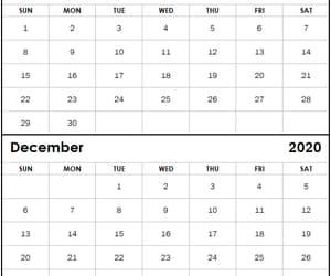 calendar, december, and november image