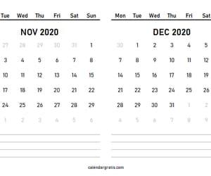 calendar, november december, and monthly calendar image