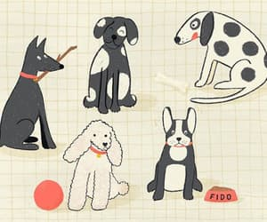 dog, dogs, and drawing image