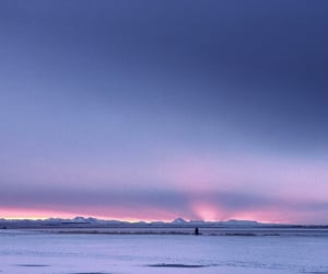 iceland, landscape, and purple image