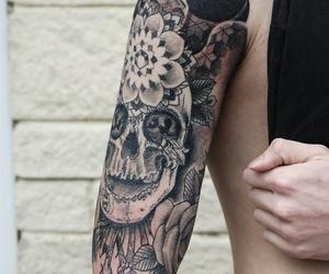 arm, tatoo, and flower image