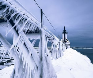 cold, frozen, and michigan image