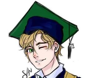 Adrien, Chat Noir, and graduation image
