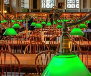 boston, green, and lamps image
