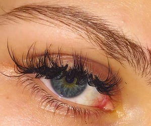 girl, blue, and eye image